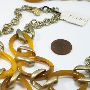 """Talbots Jewelry - Talbots 44"""" Long Necklace Gold & Beige Brown Links"""